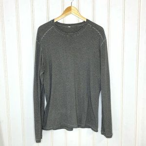 Lululemon Long Sleeve Tee Grey Stripes